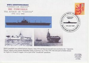 GB Stamps Navy Souvenir Cover WWII Anniversaries Operation Mascot, Tirpitz 2008
