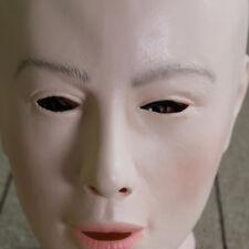New Creative Bald Woman Full Face Latex Transgender Mask Halloween Props Cosplay