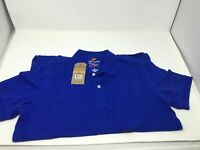 Men's Dockers Work Tennis Short Sleeve Pull Over Polo Shirt Size S Catalina Blue
