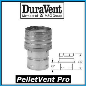 """DURAVENT PELLETVENT PRO 3"""" to 4"""" Increaser Adapter, Galv. #3PVP-X4 PELLET VENT"""