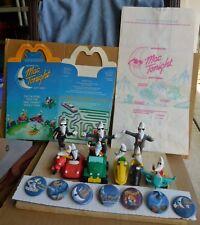 McDonalds Mac Tonight Moon Men Happy Meal Toys Figures Vehicles Box/Bag & Pins