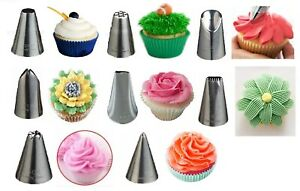 KitchenCraft Icing Nozzles Sweetly Does It Stainless Steel Decorating Nozzle