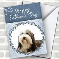 Bearded Collie Dog Traditional Animal Customised Father's Day Card