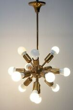 14 Lights Modern Antique Brass Pendant Sputnik Brass Chandelier