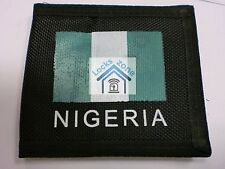 FABRIC BLACK UNISEX WALLET WITH NIGERIAN FLAG AND PLENTY OF COMPARTMENTS