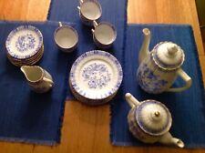 """Service Bavaria Kaffee-, Teeservice """"China Blau"""" 22 teilig, von 1953"""