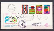 NEDERLAND - Floriade 1972 - 5 speciale FDC's,  alle met handtekening ontwerper