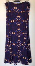 LuLaRoe Maxi Skirt, 2XL, Blue Red Cream w/Geometric design
