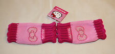 Hello Kitty Girls Pink Acrylic Fingerless Gloves Size 4 - 6 New