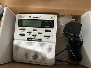 Midland Weather Radio WR-100 Public Alert NOAA Backlit LED Display