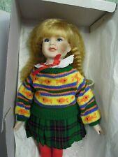 "hd-100 Kingstate Porcelain/cloth doll:Christmas ""JOY"" 18"" tall  MIB"