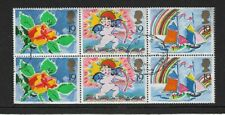 1989 GB - GREETINGS - Pane of Six - Used and Nicely Cancelled.