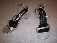 "Silver White House Black Market Womens Shoes Heels Size 7B 3"" Heels"