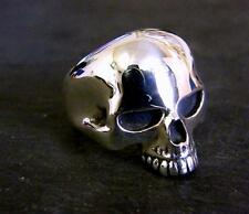 Large Solid Sterling Silver Skull Ring Keith Richards Style Handmade Bespoke