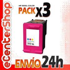 3 Cartuchos Tinta Color HP 300XL Reman HP Deskjet F2420 24H