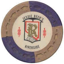 Jessie Beck's Riverside Reno Nevada $1 Casino Chip - Great Collectible Item *