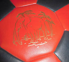 sitzkissen rund rot schwarz elefant sitz kissen 70er jahre design klassiker deko