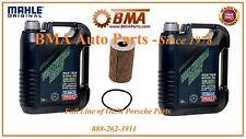 Porsche Oil Change Kit 10-Liters 0W-40 Synthetic Oil & Mahle Oil filter NEW