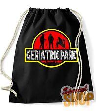 "Borsa Zaino "" Geriatrica Park "" Jurassic Park Funny Parodia Borsa Backpack"