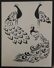 "Peacock / Partridge Bird Birds 8.5"" x 11"" Custom Stencil FAST FREE SHIPPING"