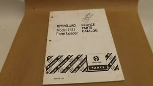 New Holland 7511 Farm Loader Service Parts Catalog