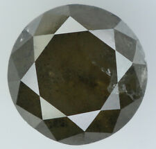 2.52 Ct Natural Loose Diamond Brown Gray Color Round I3 Clarity 7.80 MM L7218