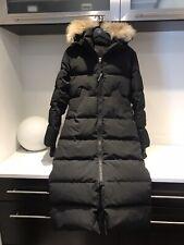 Womens M Canada Goose Black Mystique Long Down Coat Parka Retail $1095