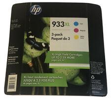 HP Officejet Multiple Models Printer Ink Cartridges 933XL 3 Pack Black Cyan