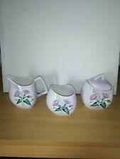Vintage 3 Piece Set of Carlton Ware Convovulus Flower Pottery