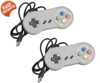 USB Controller Joystick 2 Packs for Retro SNES Super Games Retro Classic Gamepad