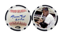 WILLIE MAYS / SAN FRANCISCO GIANTS  - POKER CHIP - BALL MARKER ***SIGNED***