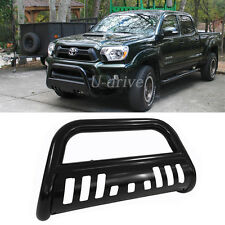 Fit 05-15 Toyota Tacoma Blk Steel Bull Bar Front Bumper Brush Push Grill Guard