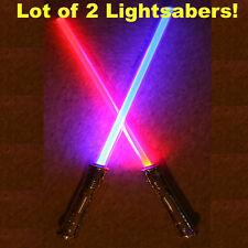 LOT OF 2 Lightsaber Star Wars FX Sound Force Light Saber Sword Toy Blade NEW