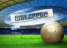 8 Einladungskarten Fußball Geburtstag Kinder Mottoparty Soccer Einladungen