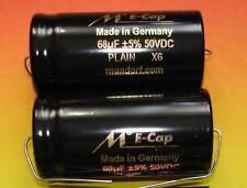 2x MUNDORF Elko glatt 68µf Audio Kondensator 1 pair capacitor