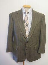 "Genuine Burberry men's lambswool green check blazer Jacket 36"" S Euro 46 Short"