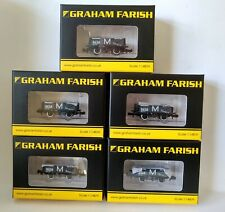 More details for graham farish n gauge wagons consisting of a collection of 5 plank. mom.