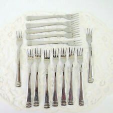 """Set of 14 Farberware Europa Pickle Cocktail Forks Stainless Flatware 6"""" L"""