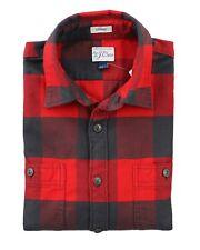 7321914f05ac J.CREW Mens L Slim Fit Green Yellow Red Buffalo Check Flannel Shirt Premium