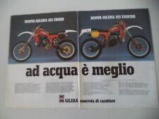 advertising Pubblicità 1981 MOTO GILERA C1 125 CROSS/E1 125 ENDURO