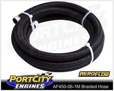 Aeroflow Light Weight Braided Hose Black -6AN 1 Metre 450 series AF450-06-1M