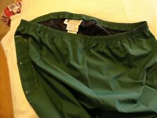 "Columbia PVC Waterproof Rain Pants XXL 36""-44"" Shell Green Bottoms Only 32"" Long"
