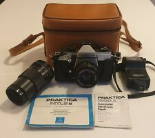 Praktica MTL5B Camera Set With Additional Carl Zeiss Lens and accessories.