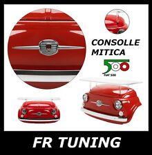 FIAT 500 CONSOLLE TAVOLO MUSETTO IN VTR GREZZO E STRUTTURA IN LEXAN LED LITGH
