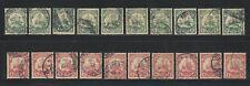 Germany: occupation Kiachau 20 stamps with interesting postmark for study EBA151
