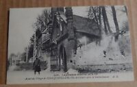 Postcard WW1 Foncquevillers after bombardment Remembrance Message on Back