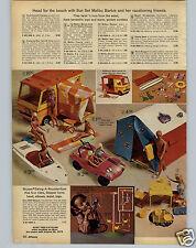 1972 PAPER AD 3 PG Malibu Barbie Doll Camper Skipper Swing Ken Suprise House