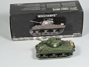 MINICHAMPS Sherman M4A3 Tank w/ Original Box 1:35 Diecast Vehicle