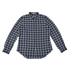 LACOSTE Devanlay Damen Bluse 40 M 100% Seide transparent kariert Woman Shirt NEU
