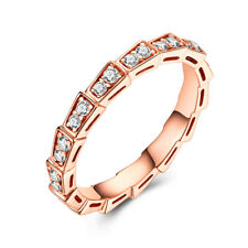 0.5CT Full Cut Natural Diamond Band 10K Rose Gold Graduation & Anniversary Ring
